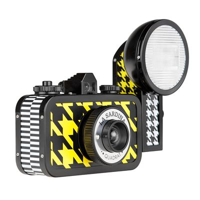 Lomography La Sardina Quadrat Camera with Flash - side view