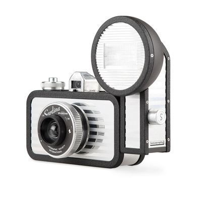 Lomography La Sardina Splendour Camera with Flash - side view