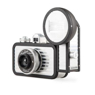 Lomography La Sardina Splendour Camera with Flash - side view