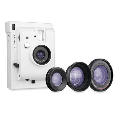 Lomography Lomo Instant Plus Three Lenses Camera - White - Lenses