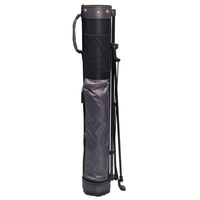 Longridge 5in Travelite Stand Bag-Black_Silver-Folded Image