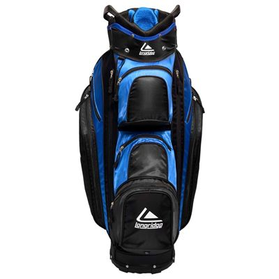 Longridge Executive Cart Bag-Black and Blue-Front