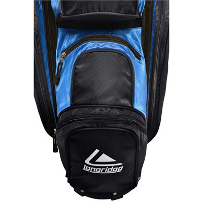 Longridge Executive Cart Bag-Black and Blue-Pockets