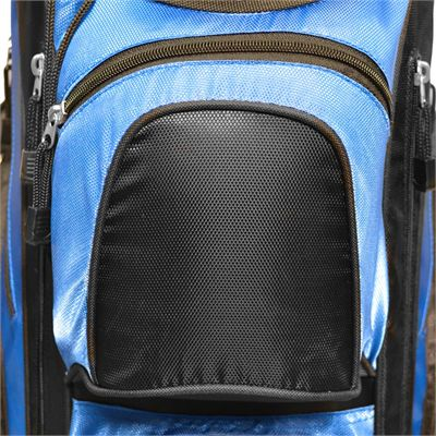 Longridge Executive Cart Bag-Black and Blue-Pockets Image 1