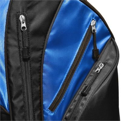 Longridge Executive Cart Bag-Black and Blue-Pockets Image 2