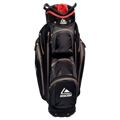Longridge Executive Cart Bag-Black and Silver-Front