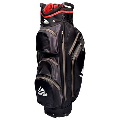 Longridge Executive Cart Bag-Black and Silver