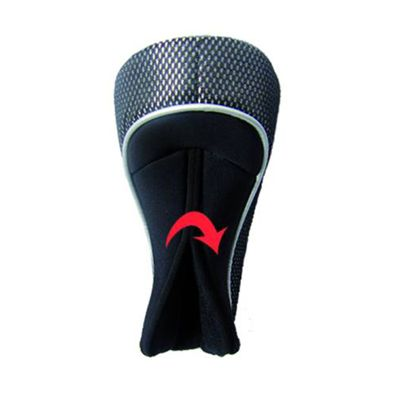 Longridge Magnetix Fairway Headcover - Black - Back View