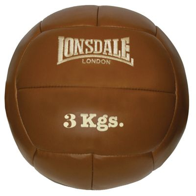 Lonsdale Authentic Leather Medicine Ball 3kg