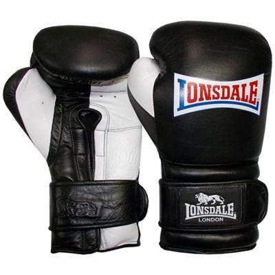 Lonsdale Barn Burner Training Glove Hook and Loop-Black and White