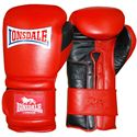 Lonsdale Barn Burner Training Glove Hook and Loop-Red and Black