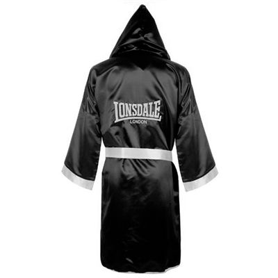Lonsdale Boxing Contest Gown Black - Back