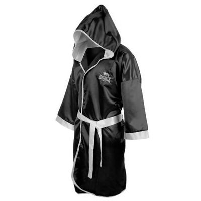 Lonsdale Boxing Contest Gown Black - Side