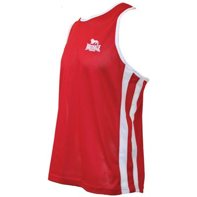 Lonsdale Boxing Vest Mens Red White