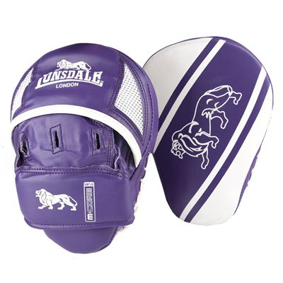Lonsdale Club Curved Hook and Jab Pads - Purple