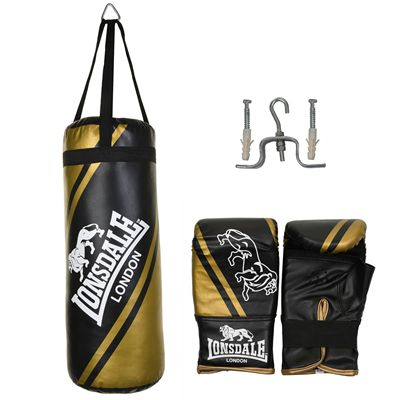 Lonsdale Club Junior Punch Bag and Glove Set