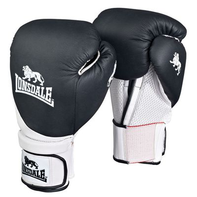 Lonsdale Club Training Glove Black White