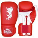 Lonsdale Cruiser Training Glove Hook and Loop-Red and White
