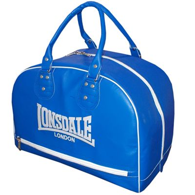 Lonsdale Cruiser Leather Style Holdall-Blue