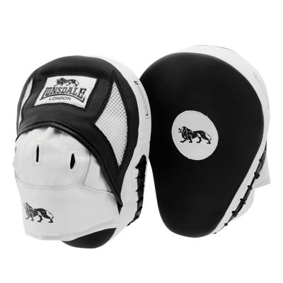 Lonsdale Gym Curved Hook and Jab Pads - Black/White
