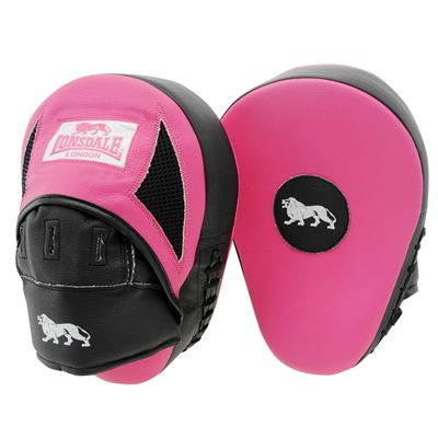 Lonsdale Gym Curved Hook and Jab Pads - Pink/Black