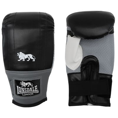 Lonsdale Jab Bag Mitt-Black and Grey