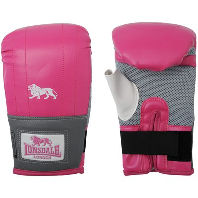Lonsdale Jab Bag Mitt-Pink and Grey