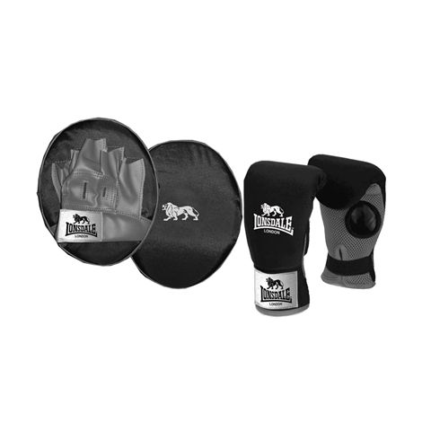 Lonsdale Jab Glove and Pad Junior Set