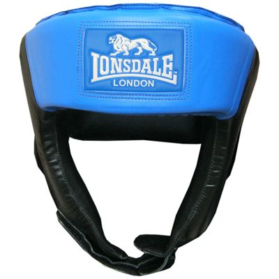 Lonsdale Jab Open Face Headguard-Black and Blue