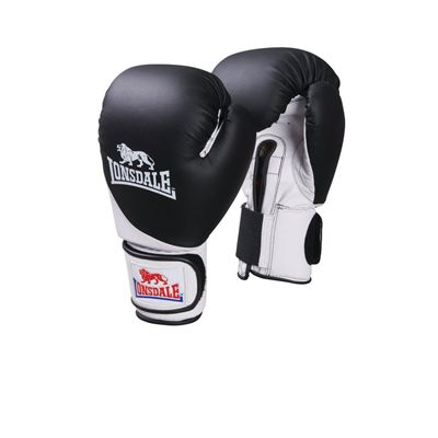 Lonsdale Junior Safe Spar Training Glove Black White