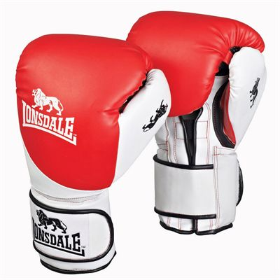 Lonsdale Junior Training Glove Red White Black