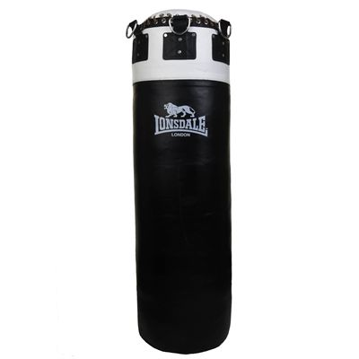 Lonsdale L60 Colossus Leather Punch Bag - Black
