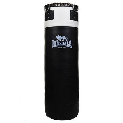 Lonsdale L60 Heavy Leather Punch Bag - Black