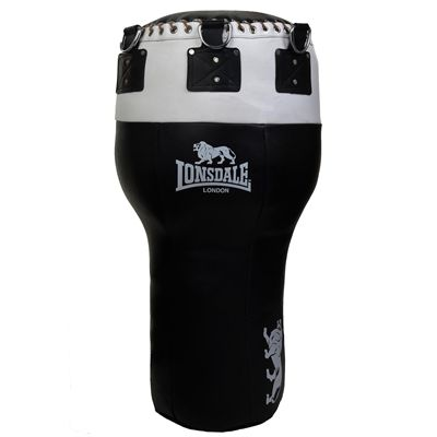 Lonsdale L60 Leather Angle Punch Bag - Black