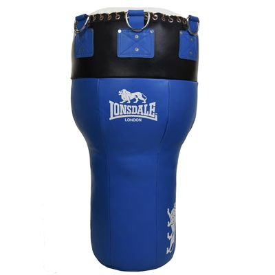 Lonsdale L60 Leather Angle Punch Bag - Blue