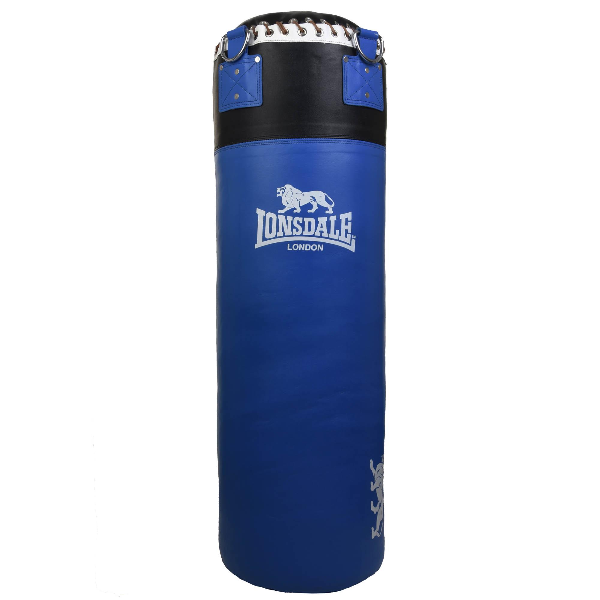 Lonsdale L60 3ft Leather Punch Bag – Blue/Black