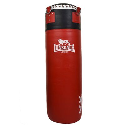 Lonsdale L60 Leather Punch Bag - Red