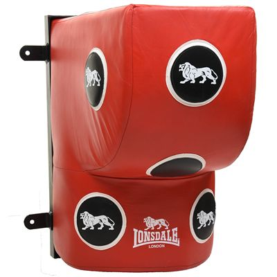 Lonsdale L60 Leather Wall Mounted Striking Bag - Red