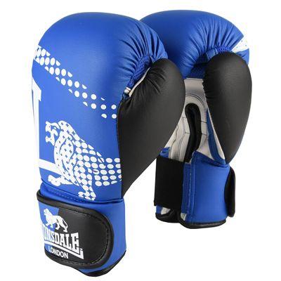 Lonsdale Lion Spar Hook and Loop Training Gloves - Blue