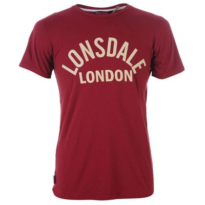 Lonsdale London Graphic Tee Red