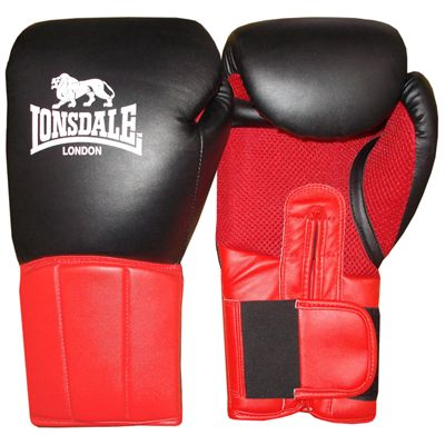 Lonsdale Performer Training Glove-Black and Red