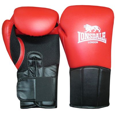 Lonsdale Performer Training Glove-Red and Black
