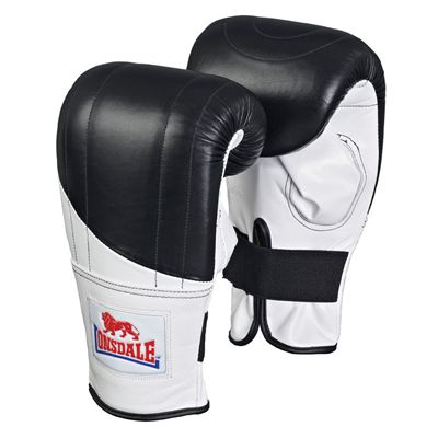 Lonsdale Pro Fitness Style Bag Mitt Black White Red