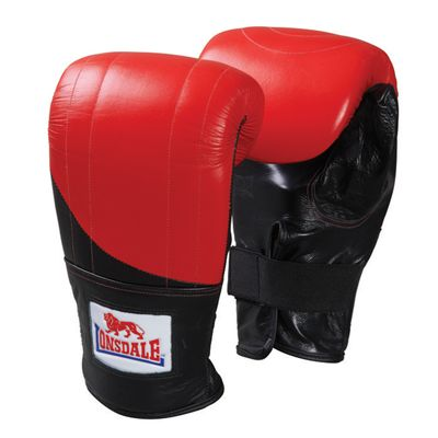 Lonsdale Pro Fitness Style Bag Mitt Red Black
