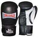 Lonsdale Pro Safe Spar Training Glove Hook and Loop-Black and White