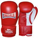 Lonsdale Pro Safe Spar Training Glove Hook and Loop-Red and White