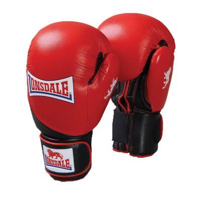 Lonsdale Pro Safe Spar Training Glove Red Black