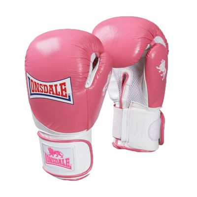Lonsdale Pro Safe Spar Training Pink White