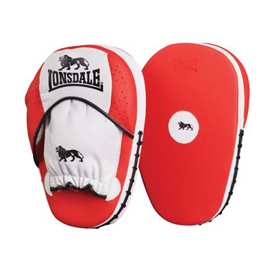 Lonsdale Pro Straight Hook and Jab Pad Red White Black