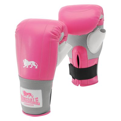 Lonsdale Pro Training Bag Mitts - Pink/Grey